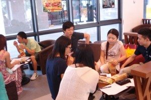 ELC Spring Semester 2014 Events – English Lunch at Pacific Coffee on 4 Sept. 2014